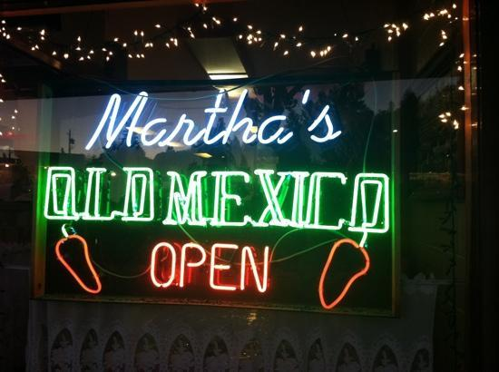 Martha's Old Mexico: sign