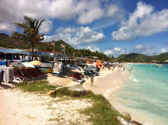 Orient Bay, St. Maarten: view from Pedro's