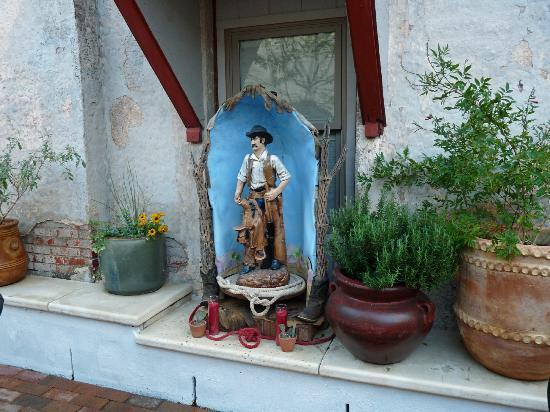 "Holland Hotel: ""Saint Cowboy"" in the courtyard"