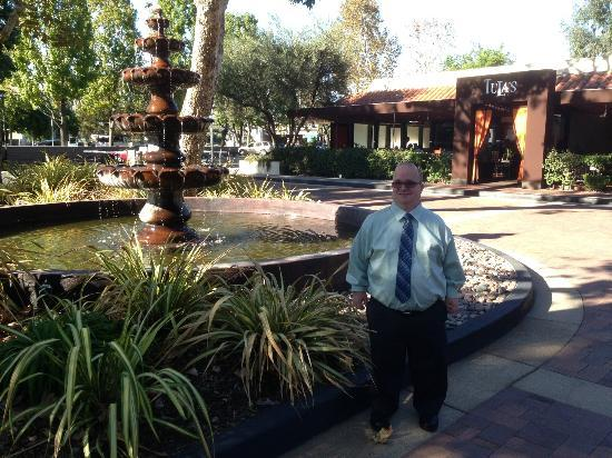 The Garland: Me next to fountain