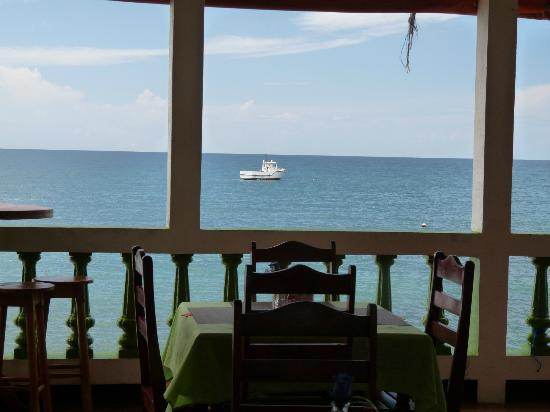 Hotel Los Delfines: View from outdoor dining room