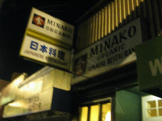 Minako Organic Japanese Cuisine: Signage