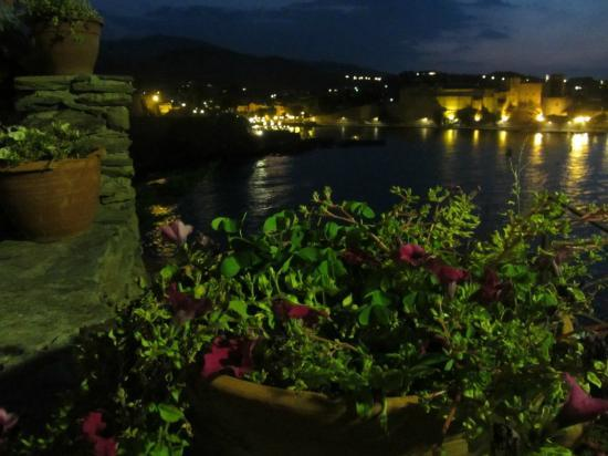 Les Caranques: View from terrace towards Collioure