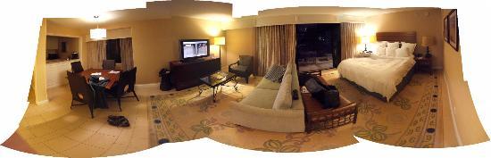 Coronado Island Marriott Resort & Spa: Panoramic view of unit 410