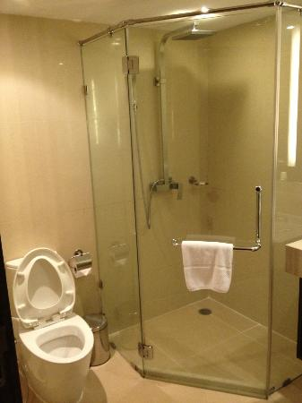 The Nova Gold Hotel Pattaya: More Marble with Seemless Glass Shower