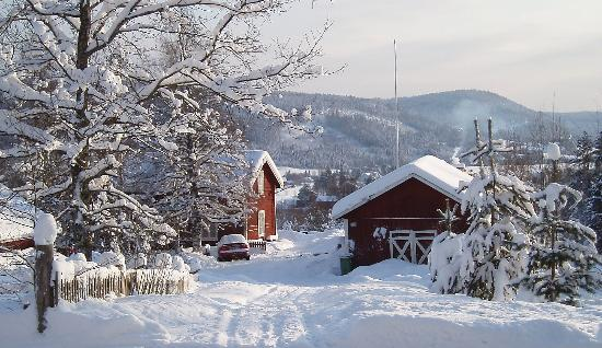 Ljustorp, สวีเดน: Winter view of the farm