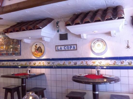 spanische einrichtung bild von restaurant la copa