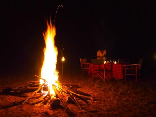 Ngerende Island Lodge: The Wild - Campfire dinner