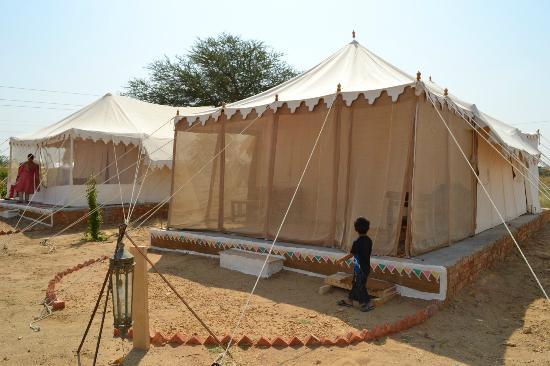 Royal Desert C& Jaisalmer Outside view of Swiss tent. & The Swiss Tent... - Picture of Royal Desert Camp Jaisalmer ...
