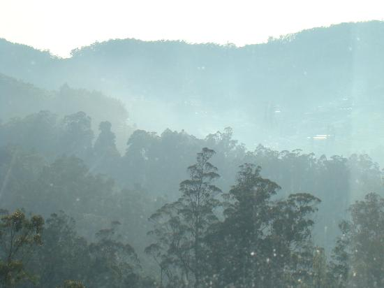 Gem Park-Ooty: The evening mist from my room - the Doddabeta Peak
