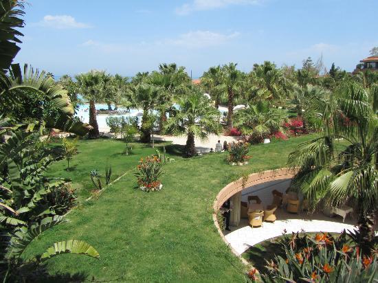 Acacia Resort Parco dei Leoni: foto met gedeelte van de tuin tuin en zwembad