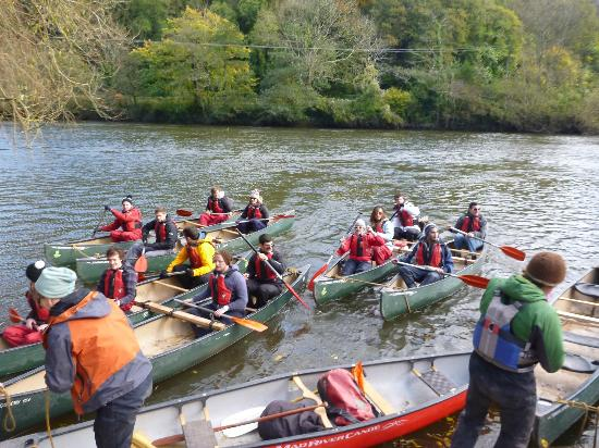 Monmouth Canoe and Activity Centre: getting back on the water after our pub lunch in Symonds Yat
