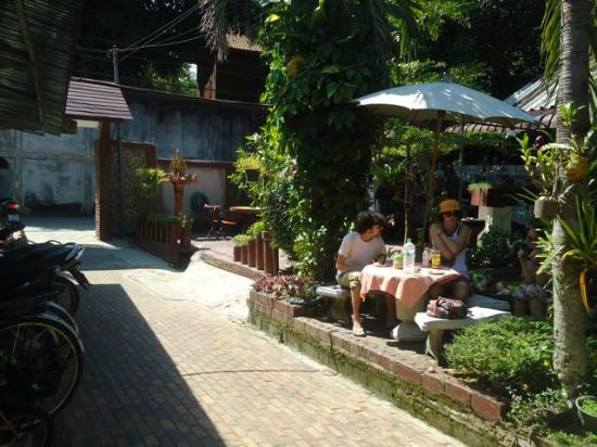 Chat Guest house : the outside garden area