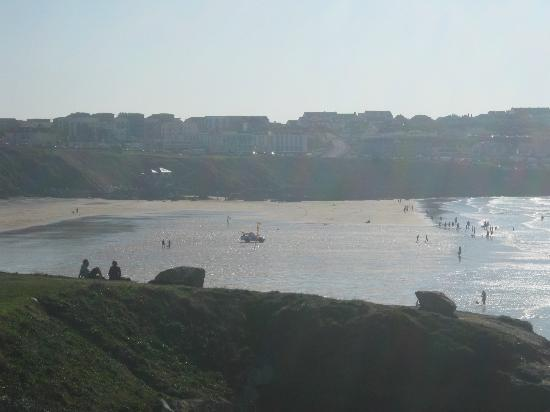 Fistral Beach: View from the cliff