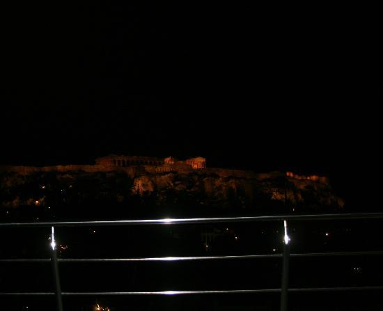 Plaka Hotel: Acrópolis desde la terraza del hotel