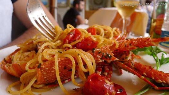Ristorante Mare Blu: Lobster Spaghetti - amazing!