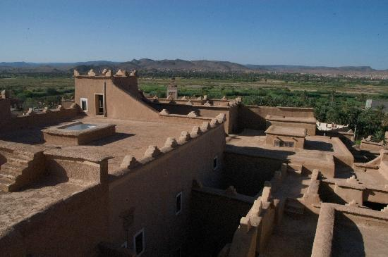view from kasbah taourirt ouarzazate