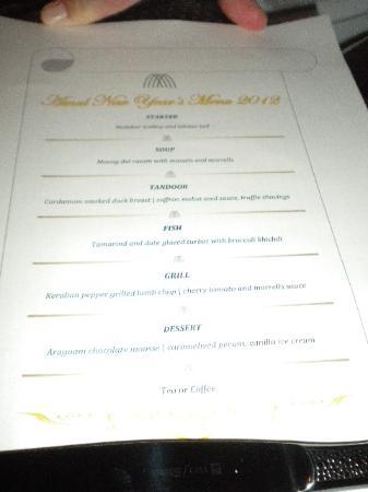 Amal Restaurant Dubai Menu