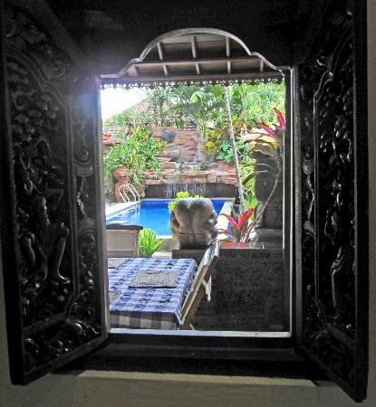 Aahh Bali Bed & Breakfast : view from Room B