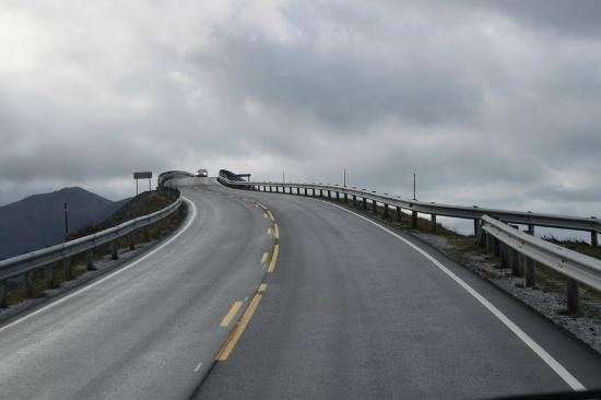 Atlantic Road: The approach...
