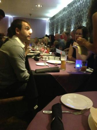 Indigo Restaurant: a view from the bottom of one end of the table