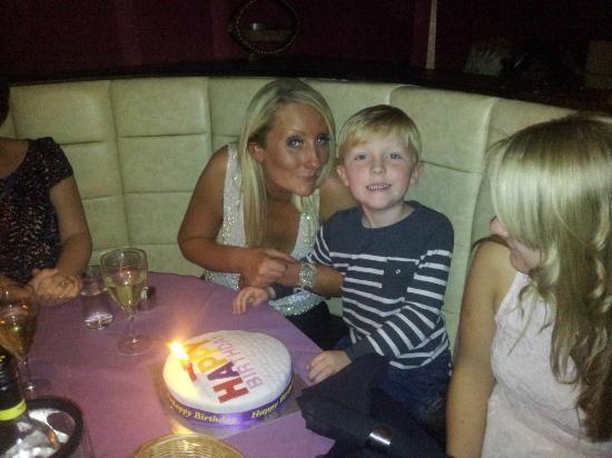 Indigo Restaurant: my lovely birthday cake