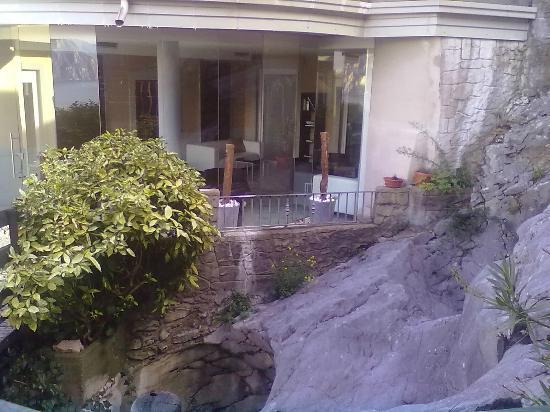 Hotel Isola Verde: sala vista dall'esterno