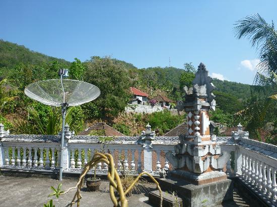 Serangan Inn II : view from the room near the balcony praying area
