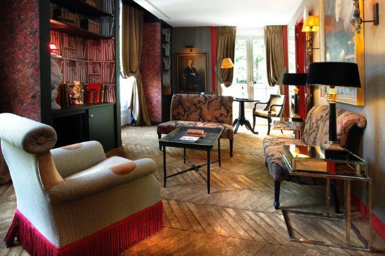 Saint James Paris - Relais et Châteaux: Lounge of Duplex Suite
