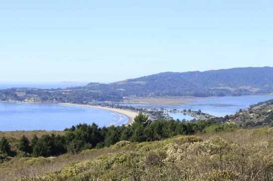 Breakers: View from the road of Stinson Beach