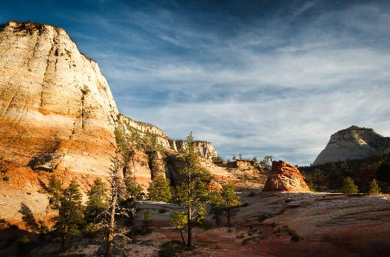 Zion Canyon Scenic Drive: Zion during Sunset