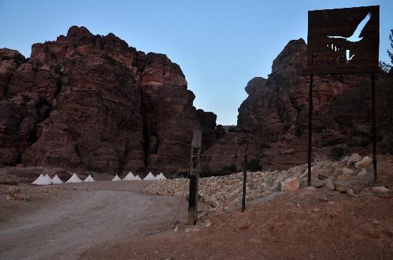 The Rock Camp - Petra: view from far