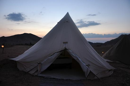 The Rock Camp - Petra: our tent