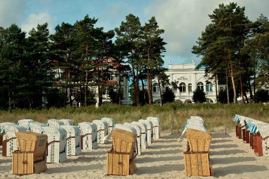 Villa Salve, Restaurant: Villa Salve direkt am Strand