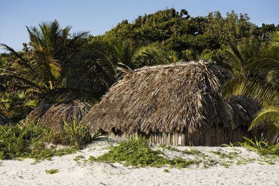 Cabana on the beach in Yucatan