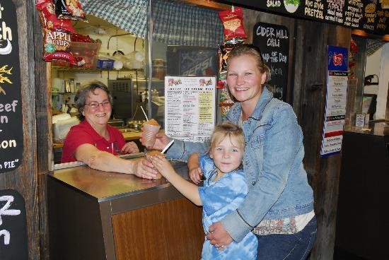 Fly Creek Cider Mill's Snack Barn Restaurant & Bakery : My First Cider Slush