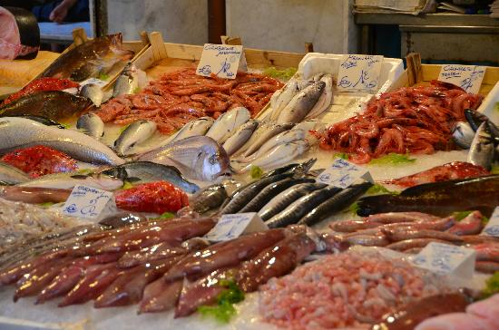 Passage to Sicily : Fresh fish at the market - caught that morning.