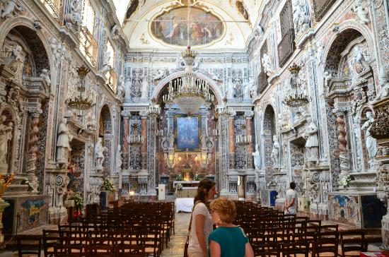 Passage to Sicily : Inside one of the unbelievable churches. All carved marble.
