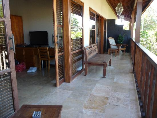 Ajanta Villas: balkon 4 pers. villa