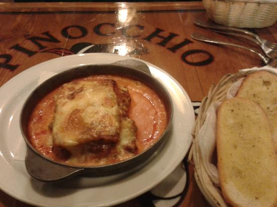 Pinocchio Restaurante Pizzeria: the best lasagne in Lanzarote !!!!