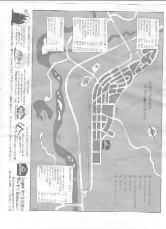 Best Western Jasper Inn & Suites: Map of Jasper, Alberta