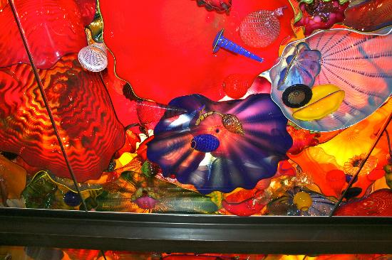 Chihuly Garden and Glass: in the ceiling