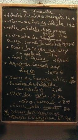 Au Potin: menu du Marché