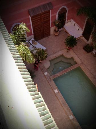 Riad Alili: vu de la deuxième terrasse
