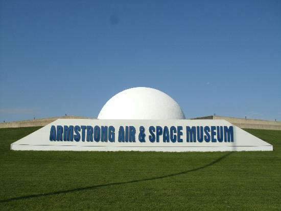 Wapakoneta, OH: Armstrong Air & Space Museum from Interstate