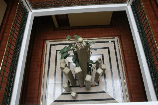 Montemar: strange sculpture in atrium area