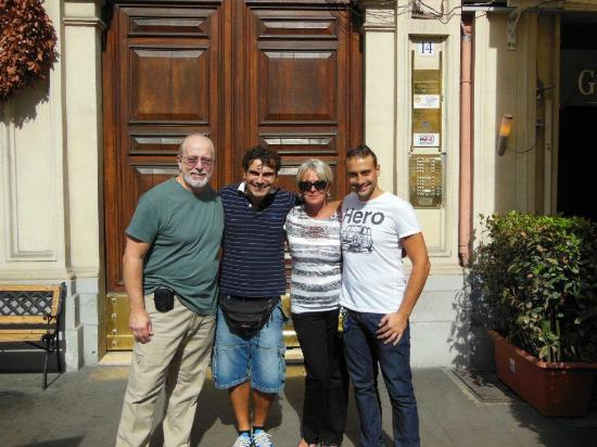 A View of Rome: with David and Livio in front of the B&B