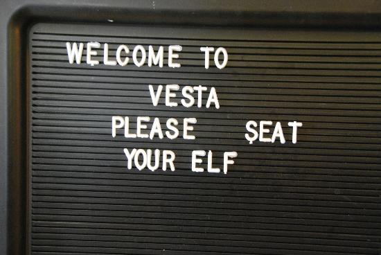 Vesta: funny sign