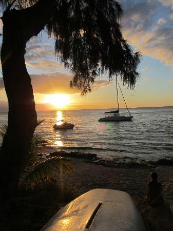 Margarita : Coucher 18H10 sur la plage