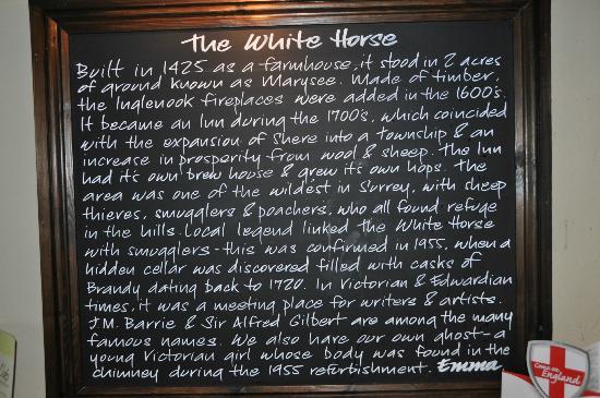 The White Horse: History of the Pub/Inn